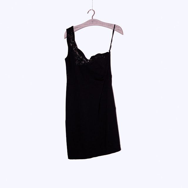 one shoulder dress with beading