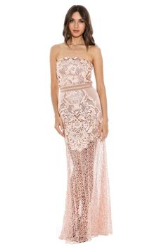 Strapless Lace Empress Gown