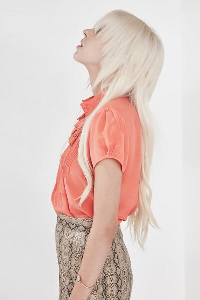 Chanel Blouse Coral